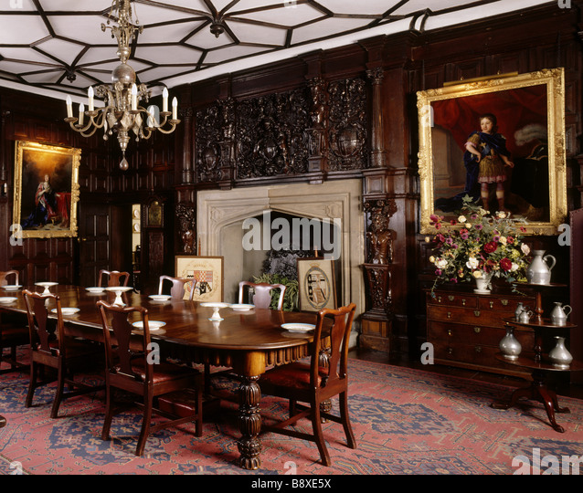 Castle Dining Room: Tudor Dining Room Stock Photos & Tudor Dining Room Stock