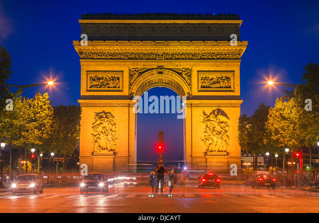 Arc de Triomphe, Paris - Stock Image
