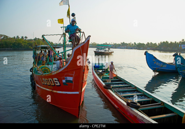 Fishermen, Cochin, Kerala, India, Asia - Stock Image