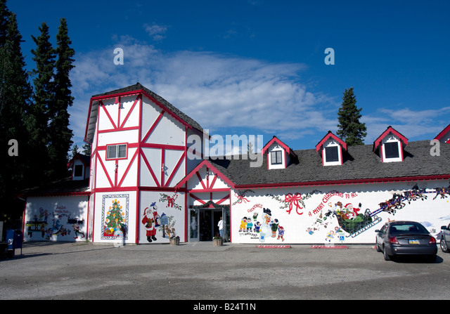 Santa Claus, father Christmas at North pole, Alaska - Stock Image