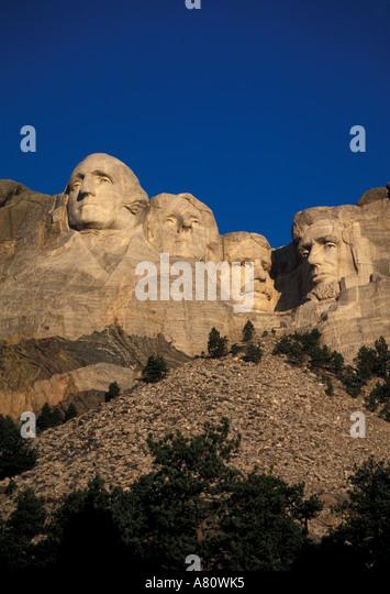 South Dakota Mount Rushmore - Stock Image