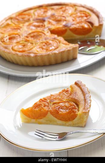 apricot tart, tarte aux abricots - Stock Image