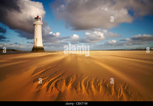 Perch Rock Lighthouse New Brighton - Stock Image