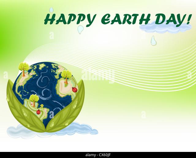 Earth Day - 22 April international celebration. - Stock Image