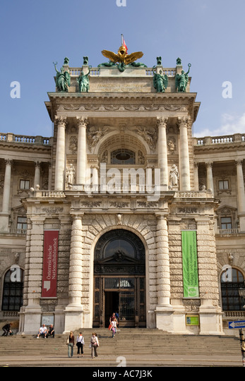 Vienna National Library - Stock Image