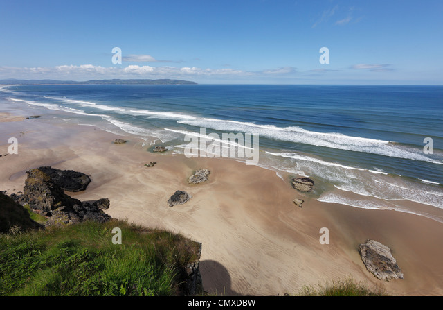 United Kingdom, Northern Ireland, County Derry, View of coast - Stock Image