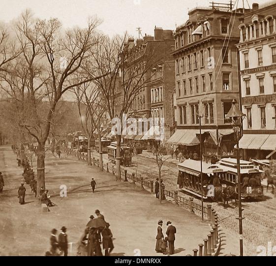 USA Boston Tremont Street pre-1900 - Stock Image