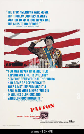 PATTON, US poster art, George C. Scott, 1970, TM and Copyright © 20th Century Fox Film Corp. All rights reserved, - Stock Image