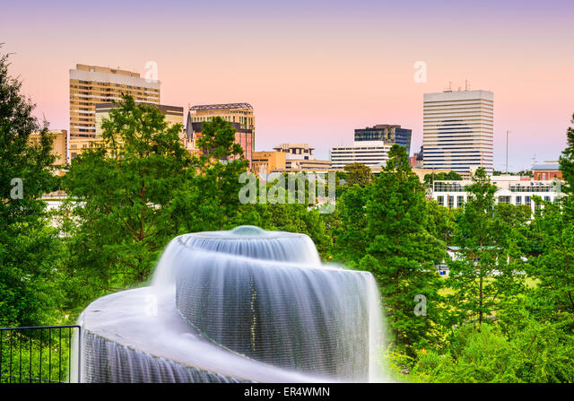 Columbia, South Carolina, USA at Finlay Park Fountain. - Stock Image
