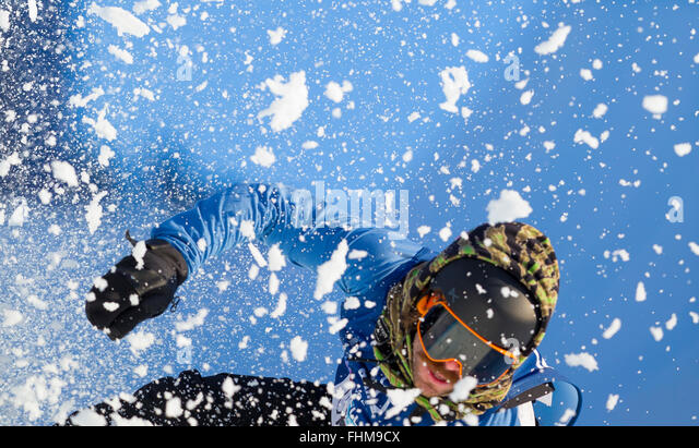 Wyller Oslo Winter Park, Oslo, Norway. 25th Feb, 2016. X Games Oslo 2016. Mens Snowboard SuperPipe Round 1. Danny - Stock-Bilder
