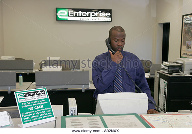 Enterprise Car Rental Mobile Al: Reservationist Desk Stock Photos & Reservationist Desk