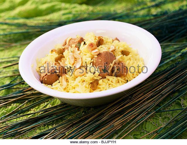 Malabar Mutton Biryani (rice with mutton, India) - Stock Image