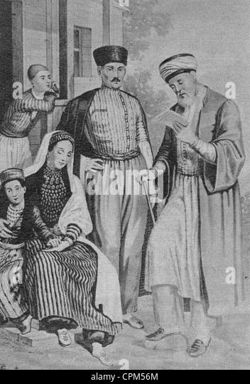Tatars in Crimea, 19th century - Stock Image