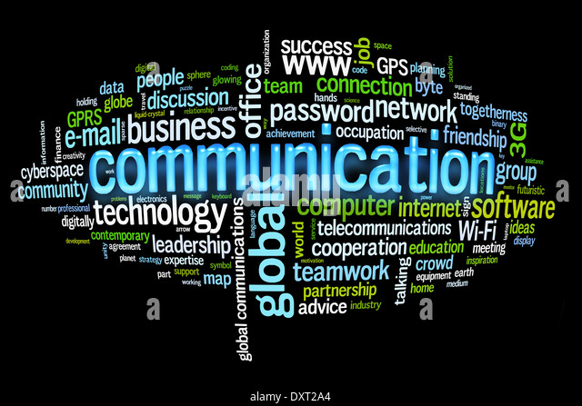 communication concept image word cloud - Stock Image