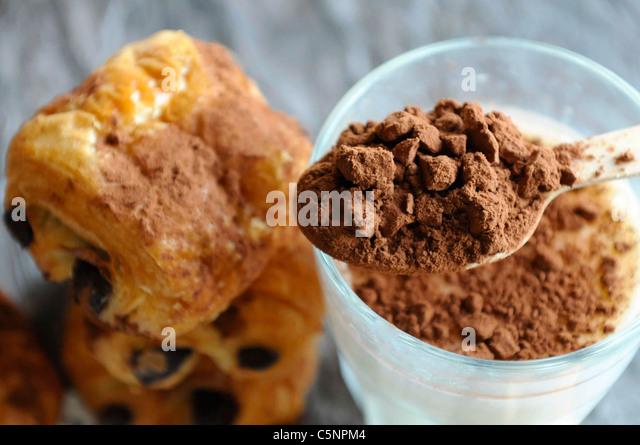 Pain au chocolat - Stock-Bilder