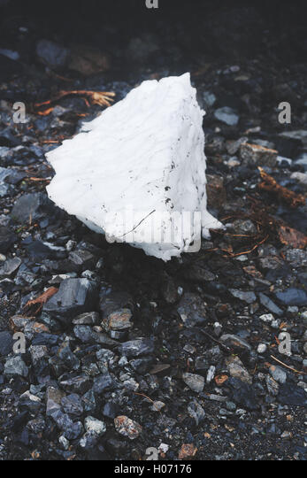 A breakaway piece of ice from Big Four Ice Caves near Seattle Washington - Stock Image