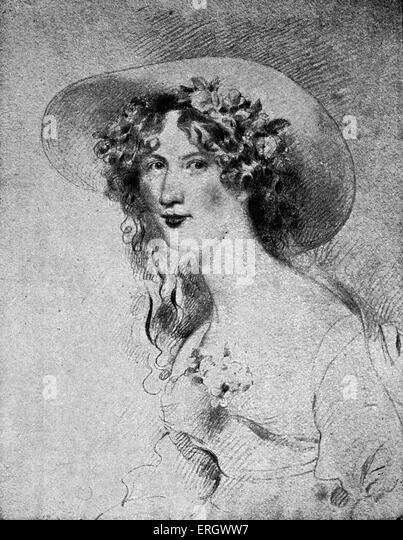 Jane Porter: English novelist, 1776-1850.  After the portrait by G H Harlow. - Stock-Bilder