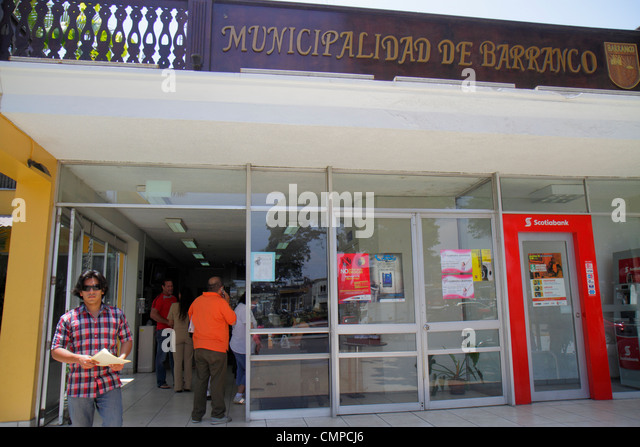 Peru Lima Barranco Avenida D'Osma Municipalidad de Barranco municipal government office local services entrance - Stock Image