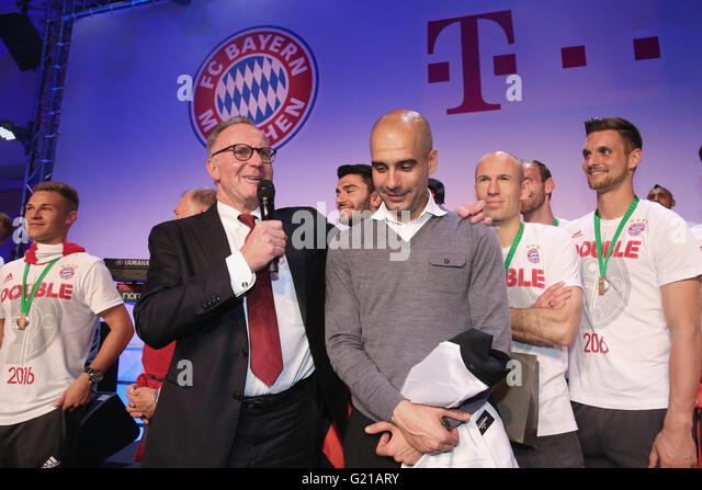 Berlin, Germany. 21st May, 2016. HANDOUT - BERLIN, GERMANY - MAY 21: Karl-Heinz Rummenigge, CEO of Bayern Muenchen, - Stock Image