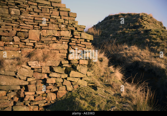 The breach in the Lodge for Cheesden Pasture Mill (continued..) - Stock Image