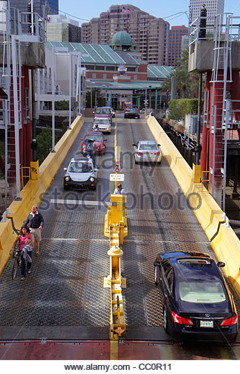 New Orleans Louisiana Mississippi River Canal Street Ferry Algiers Crescent City Connection Division CCCD ferryboat - Stock Image