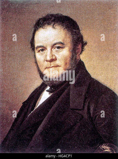 Stendhal, Marie-Henri Beyle, French writer. - Stock Image