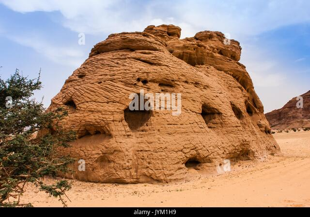 Cathedral Stone, Riyadh Province - Stock Image