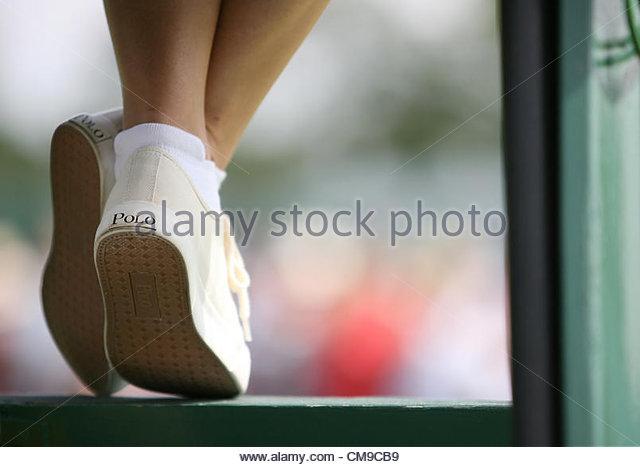 28/06/2012 - Wimbledon (Day 4) - An umpire's Polo plimsole shoes - Photo: Simon Stacpoole / Offside. - Stock-Bilder