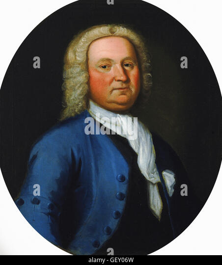 Attributed to Gustavus Hesselius - Dr. Gustavus Brown - Stock Image