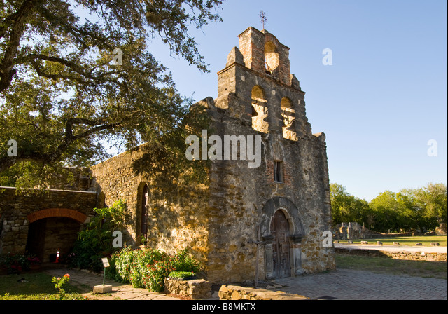 Mission Espada missions national park San Antonio Texas Tx - Stock Image