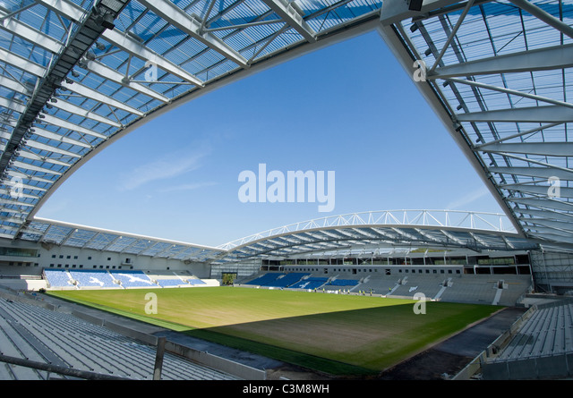 Brighton & Hove Albion's new Football Stadium at Falmer, East Sussex, the  American Express Community Stadium - Stock Image