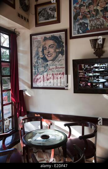 Morocco, Casablanca, cafe Casablanca - Stock Image