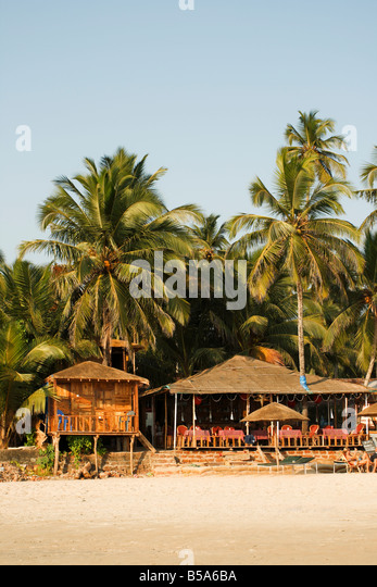 beachlife Palolem Goa India - Stock-Bilder