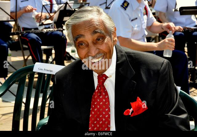 NYC:  The Honourable United States House of Representatives Congressman Charles Rangel at the annual Memorial Day - Stock Image
