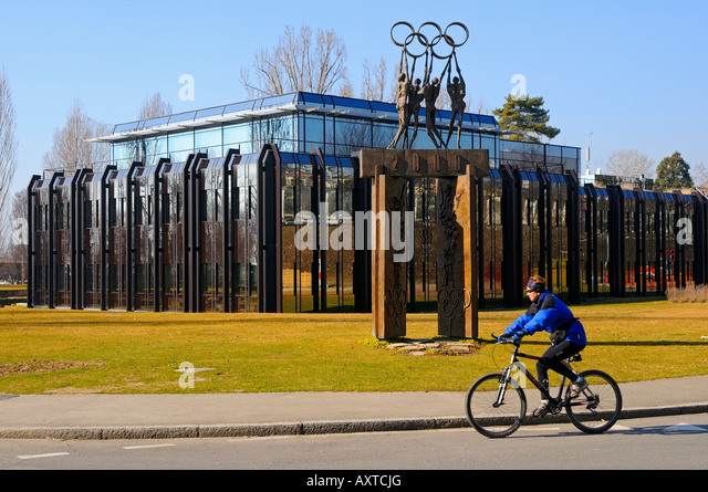 International Olympic Committee IOC headquarters Lausanne Switzerland - Stock Image