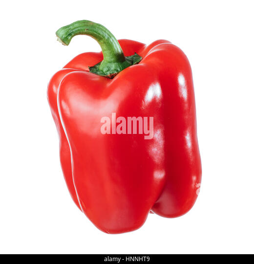 red pepper over white background - Stock Image