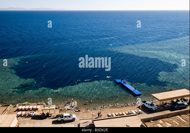 Blue Hole, Dahab, Egypt, Red Sea - Stock Image