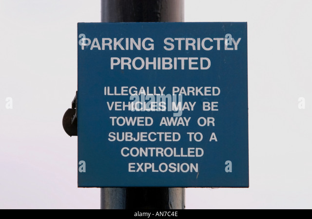 A warning sign at Belmarsh High Security Prison London - Stock Image