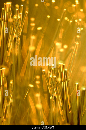 Fiber Optics Transmitting Data - Stock Image