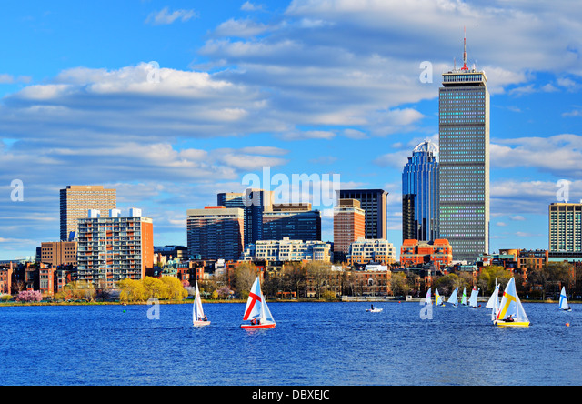 Boston, Massachusetts Skyline at Back Bay district. - Stock Image