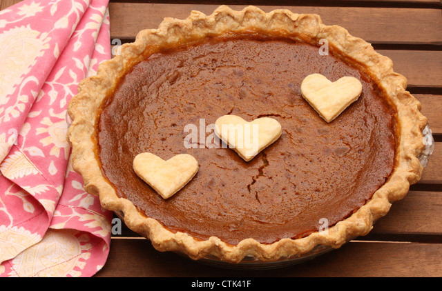 Homemade Pumpkin Pie! - Stock Image