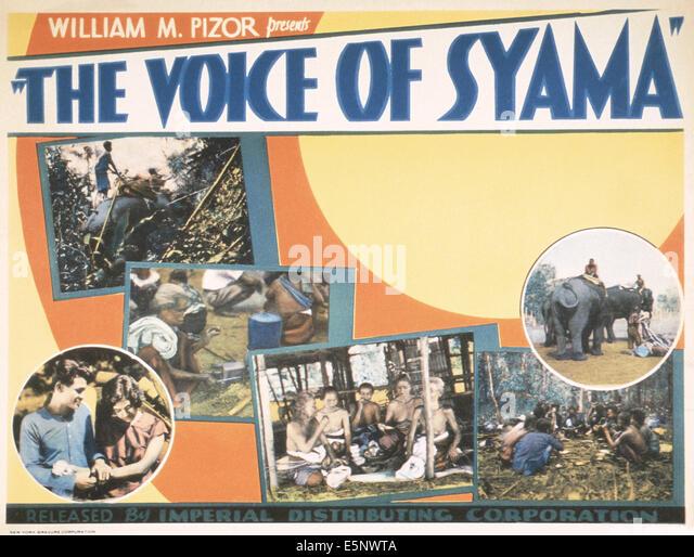 THE VOICE OF SYAMA, US lobbycard, 1930s - Stock Image