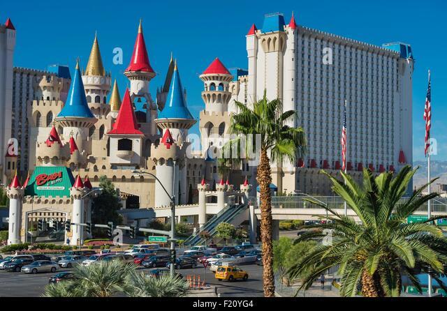 United States, Nevada, Las Vegas, the Strip, Excalibur hotel and casino - Stock Image