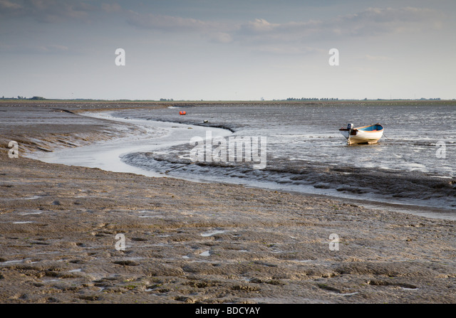 Tide out at Snettisham seashore in Norfolk, England, UK. - Stock Image