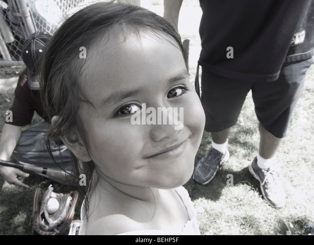 Young girl smiling - Stock-Bilder