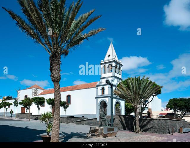 Church, Puerto del Rosario, Fuerteventura, Canary Islands, Spain - Stock Image