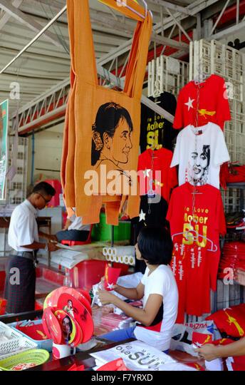 NLD Headquarters, Yangon - Stock-Bilder