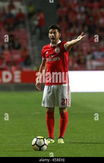 Benfica«s midfielder Pizzi from Portugal during the Premier League 2017/18 match between SL Benfica v Portimonense - Stock Image
