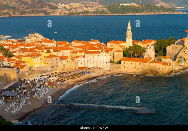 Old Town (Stari Grad), Budva, Montenegro - Stock-Bilder