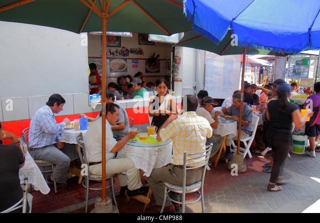 Peru Lima Surquillo Mercado de Surquillo flea Peru Lima Surquillo Mercado de Surquillo market business shopping - Stock Image